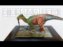 How to make a Diorama Box, Realistic Water Painting! Dinosaur Resin