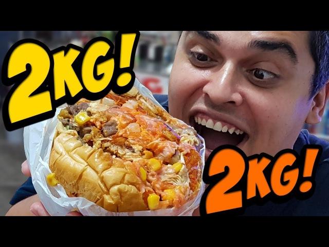 CACHORRO-QUENTE DE QUASE 2 KG - Hot Dog Power
