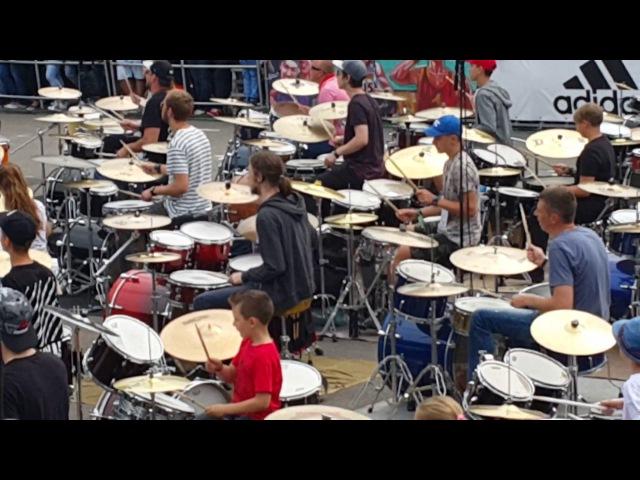 Фестиваль барабанщиков в Риге 9 июля 2017 г