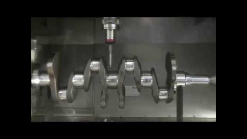 Обработка коленчатого вала на автоматизированной линии, станки с ЧПУ