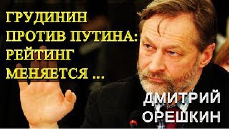 ГРУДИНИН против ПУТИНА: рейтинг меняется ... Дмитрий Орешкин