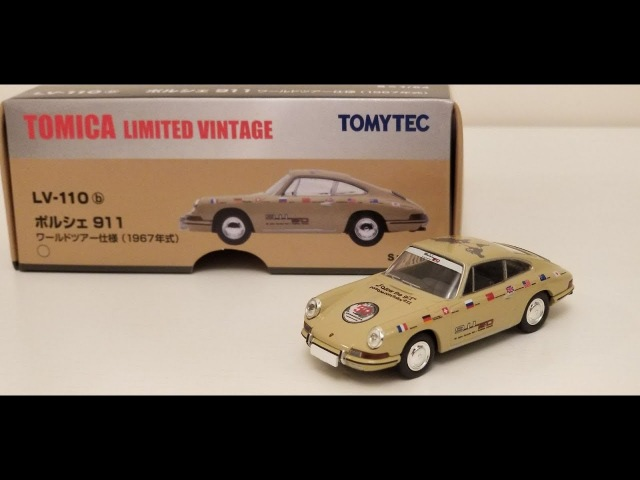 ManchildUltimate presents トミカ Takara Tomy Tomica Limited vintage Neo Porsche 911 50th world tour
