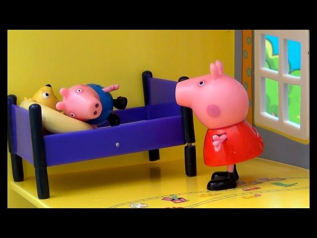 Peppa Pig français. Peppa Pig raconte un conte de fées à son frère George. Peppa met George au lit