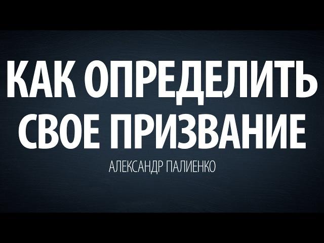Как определить свое призвание. Александр Палиенко.