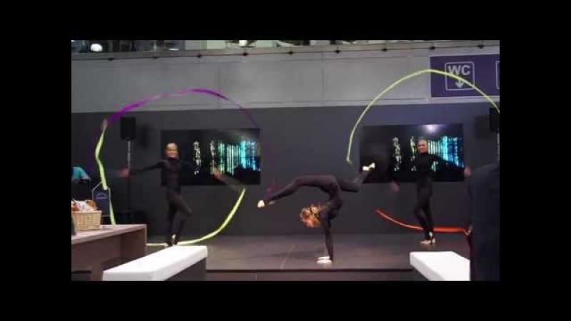 Гимнастическое шоу Hollywood.ру - номер с лентами