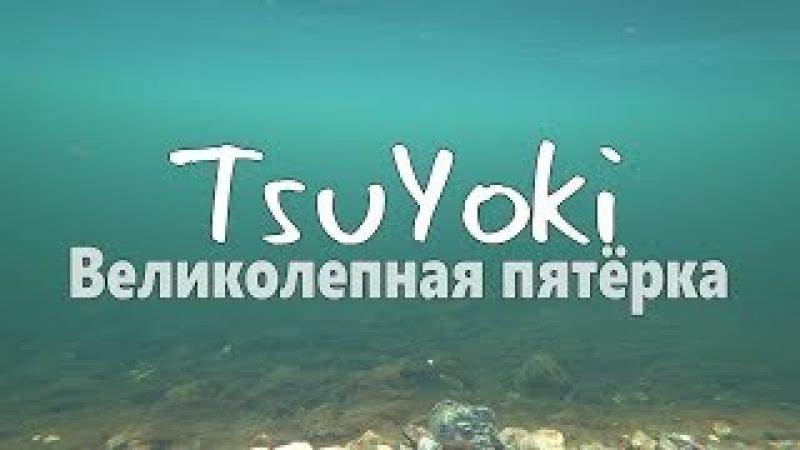Underwater video TsuYoki Великолепная пятёрка! Реальная рыбалка