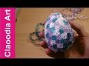 Jajko styropianowe ozdabiane aplikacjami z taśmy (Eggs, easter decoration)
