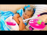Diana and Roma Pretend Play with color Sofas Funny Kids Video