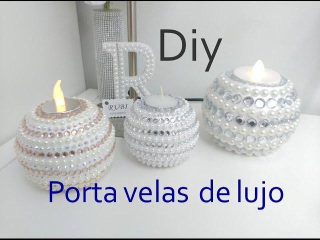 Diy. Portavelas de lujo muy facil. Handmade candle holder.