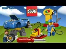Лего Мультфильм. Заправка синей машинки на гонках Лего. Детская игра мультик Лег...