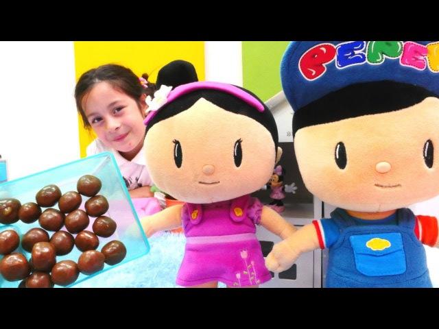 Pepee ve Şila ile Sıcak Soğuk Oyunu ŞEKER bulmaca oyunu Çikolatalar NERDE Evcilik oyuncakları