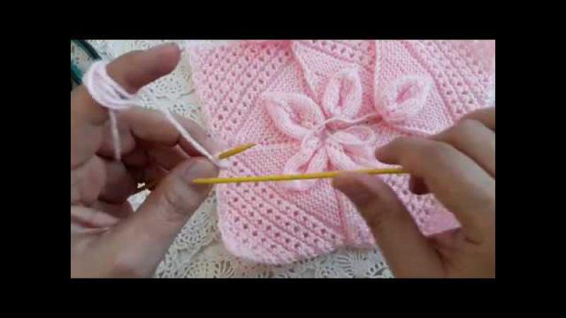 Yaprak Desenli 4 Boyutlu Bebek Battaniyesi Yapımı
