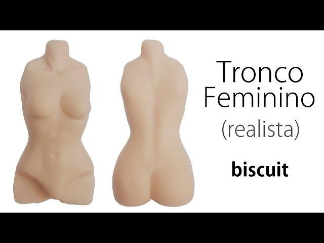 Corpo Tronco Feminino Realista Porcelana Fria Pasta Flexible ✔AULA 01 08
