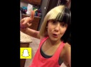 Millie Bobby Brown singing and dancing (Snapchat compilation)