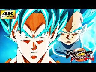 DRAGON BALL FIGHTER Z 4K GOKU SUPER SAIYAN BLUE VS VEGETA SUPER SAIYAN BLUE