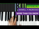 Axwell Λ Ingrosso - More Than You Know | PIANO TUTORIAL | HOW TO PLAY