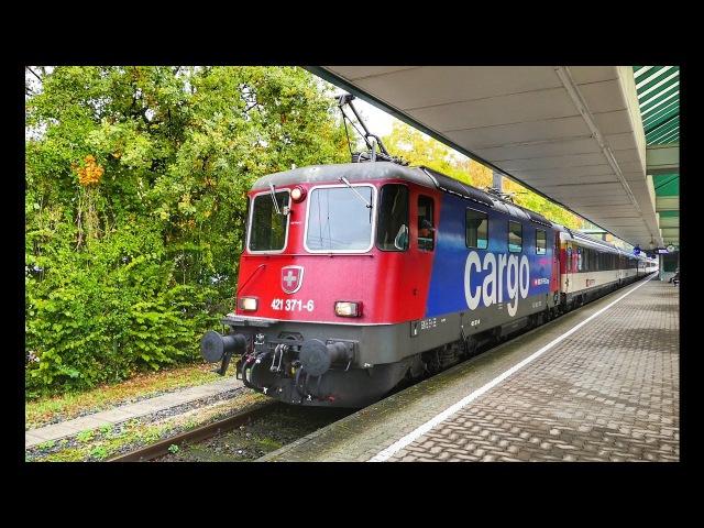 Züge im Bahnhof Bregenz in Vorarlberg