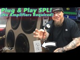 Plug &amp Play SPL - No Amplifiers Required! 4 DC Audio 15's Wired Direct to Wall Socket and Metered
