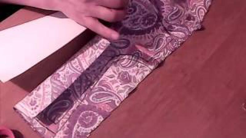 выкраиваем ночную сорочку на ткани