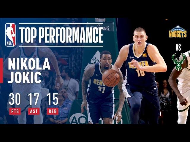 Nikola Jokic Gives a MONSTER Performance (30/17/15) vs. the Bucks | February 15, 2018