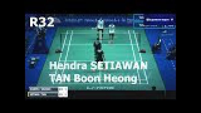 Badminton 2017 China Open Hendra SETIAWAN TAN Boon Heong vs Vladimir IVANOV Ivan SOZONOV