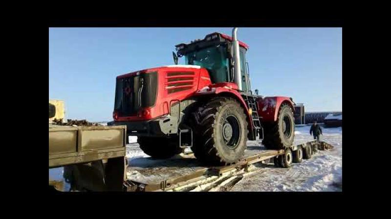 Новый трактор К 744 р4. Разгрузка!