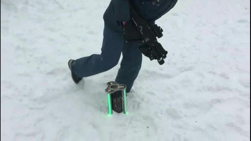 Захват контрольной точки Smart на зимней игре в лазертаг