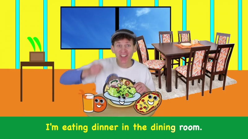 Learn Rooms of the House Song with Matt _ Action Songs for Children _ Learn Engl