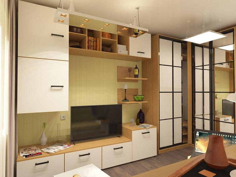 Проект студии 26,5 м от СГ Третий Рим, застройщика жилого района Гармония, Михайловск.