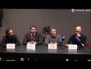 Федор Бондарчук в прямом эфире рассказывает о секции «Кино» на Культурном форуме.