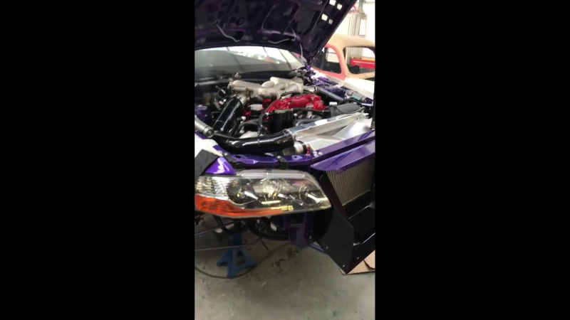 Mitsubishi Evo GTR is wired and running