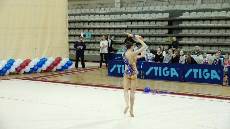 Елизавета Луговских - булавы (финал)Чемпионат Приволжского округа, Самара 2018