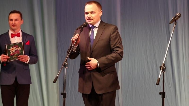 На праздничном концерте, посвященного Дню 8 марта. Поздравление заместителя Министра внутренних дел по РК О.В. Блохина