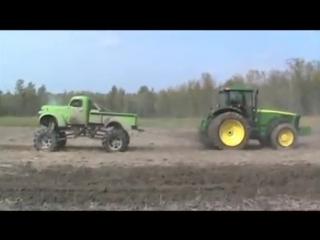 Mud truck vs john deere tractor