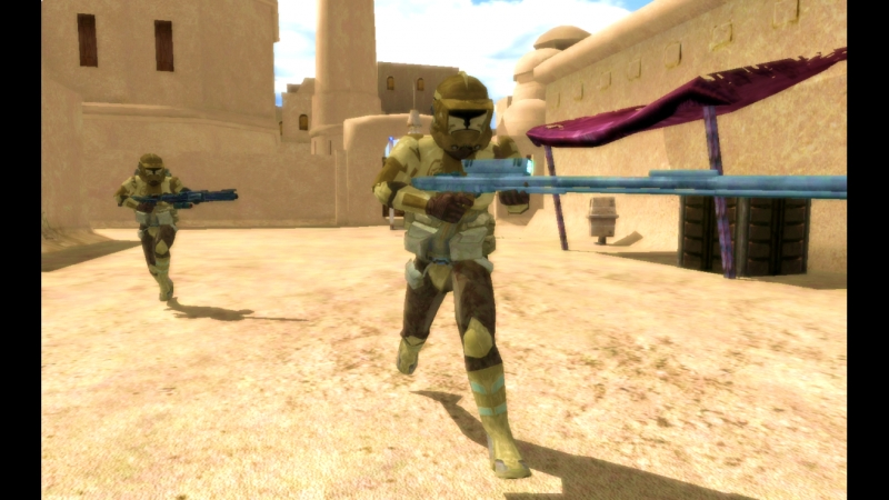 Star Wars: Battlefront 2 (2005) The Old Republic The battle for Tatooine.