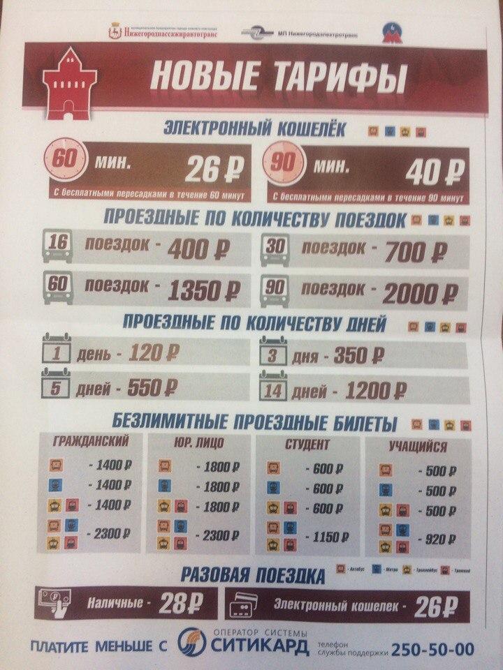 Повышение стоимости проезда в Нижнем Новгороде 2017