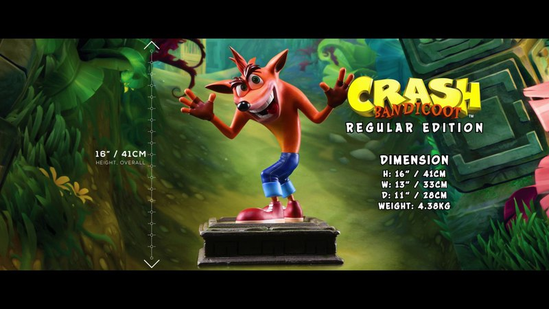 First 4 Figures Presents Crash Bandicoot™ - Crash Resin Statue Trailer