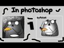 Cat BA-DU-TSS in photoshop
