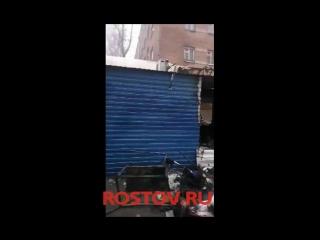 Взрыв баллона на рынке на Комсомольской площади в Ростове. 3.02.2018 г