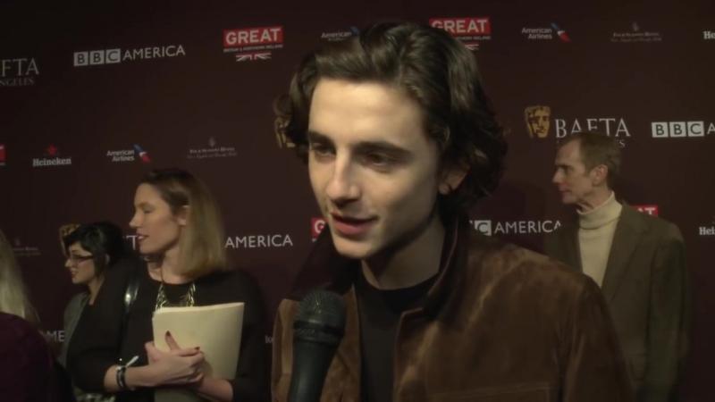 Чайная вечеринка, организованная «BAFTA»: интервью Тимоти для журнала «Triple» (Лос-Анджелес, 06.01.2018)