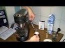 Готовим капучино взбиваем молоко в пенку в кофеварке Delonghi 685
