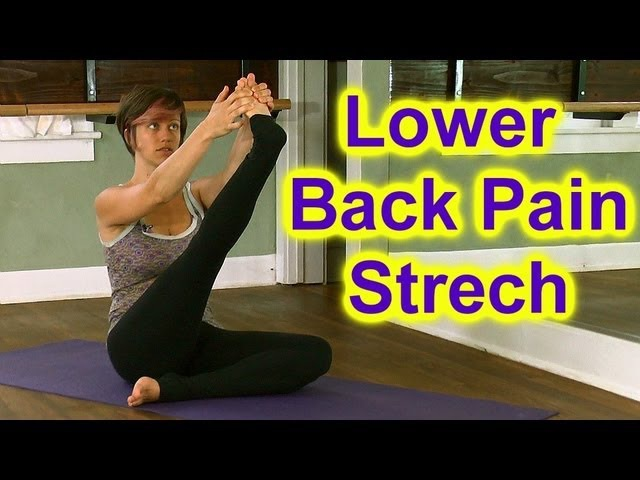 How To Stretch Butt Hips for Low Back Pain Sciatica | Austin Yoga Instructor Jen Hilman