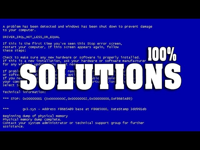 How to fix Blue screen Errors in windows 7,8 all computing format [Permanent Solution]