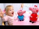 Peppa Pig Birthday Cake for Super Vanessa Happy Monkey Finger Toy Unboxing