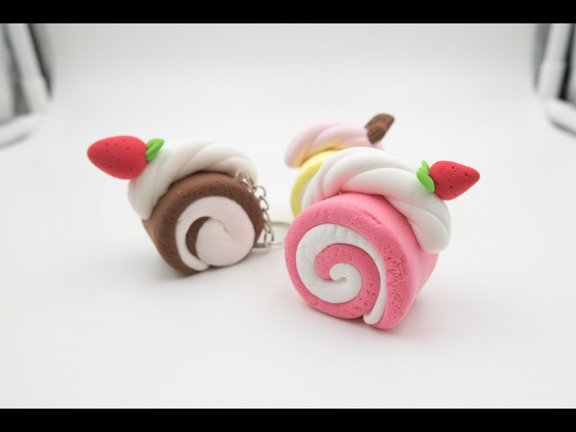 Swiss roll light air dry clay tutorial step by step