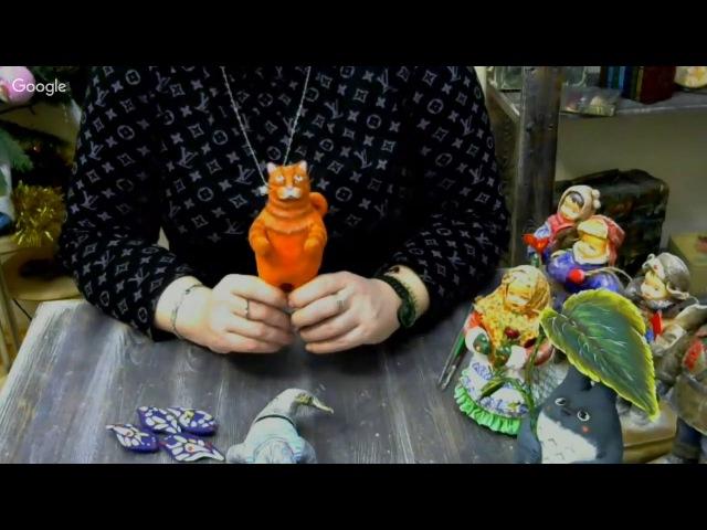 Елена Васько ватные игрушки на новый год котейка
