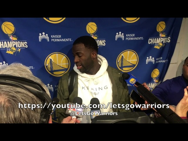 Entire DRAYMOND postgame on him and Durant handling the ball Blazers improved for sure