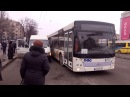 В Запорожье автобус подрезал маршрутку на остановке