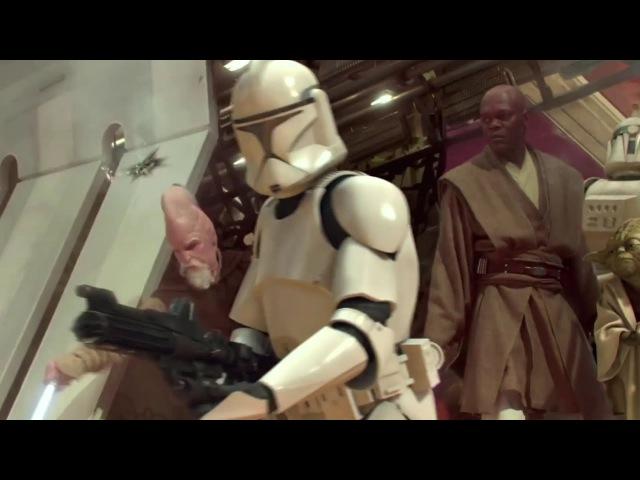 Звёздные войны Эпизод 2 Атака клонов отрывок Клоны укрепляют оставшуюся команду джедаев