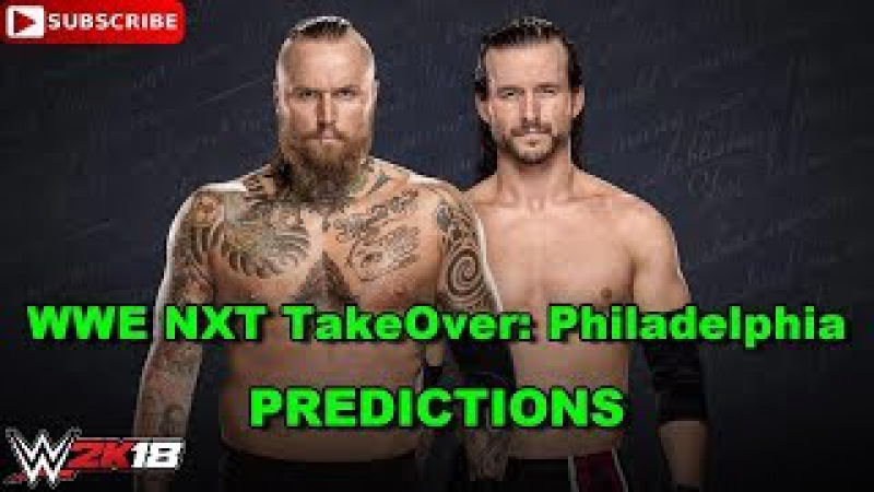WWE NXT TakeOver Philadelphia Aleister Black vs Adam Cole Extreme Rules Match WWE 2K18